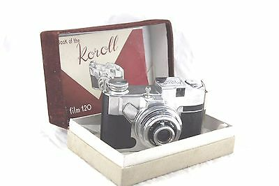 vintage Bencini Koroll 120 Medium Format Camera with BOX & instructions