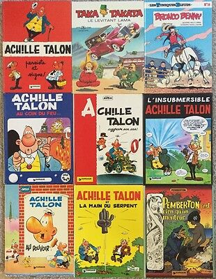Collection Of 9 French HC Comic Books - Starring Achille Talon NM Graphic Novels