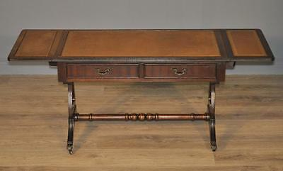 Attractive Vintage Antique Style Large Mahogany Coffee Table on Splayed Legs