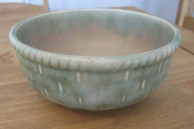 Vintage Shorter And Son Green Bowl Stoke On Trent England Pottery 484