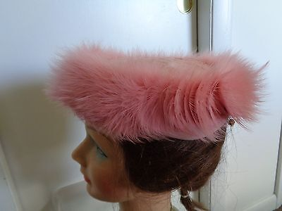 Women's Ladies  Vintage Dress Hat Circa 1950's - Pink Feather   KARO  New York