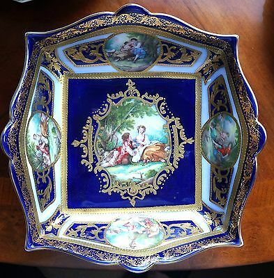 Sevres style porcelain bowl approx 20 cms in diameter