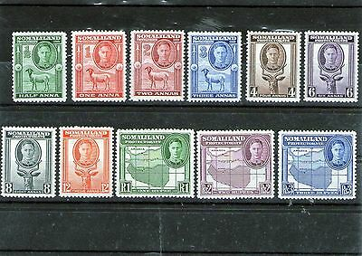 Somaliland Protectorate Mint Stamps 1942 Sg 105 - 115 Animals & Maps