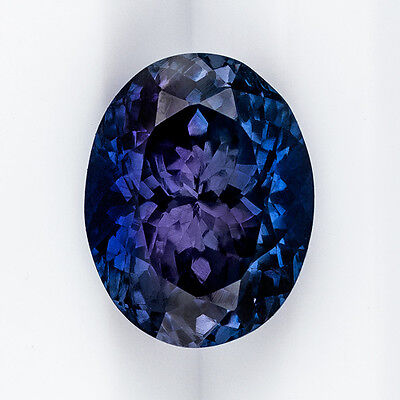 8ct GIA CERTIFIED NO HEAT SPINEL BLUE PURPLE GEMSTONE OVAL LOOSE 13mm X 10mm