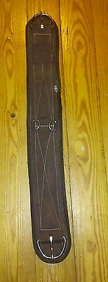 "36"" Western Saddle Brown Fleece Girth Cinch Used Horse Tack"