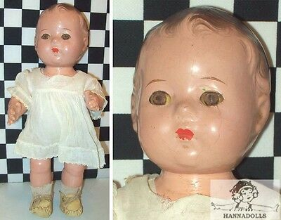 "10"" Antique Alexander Composition DIONNE Quints Doll Tagged Dress Onsie~~~~"