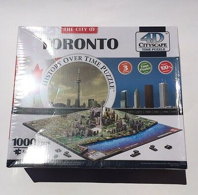 4D Cityscape Puzzle: Toronto Brand New Sealed In Box Complete        A08