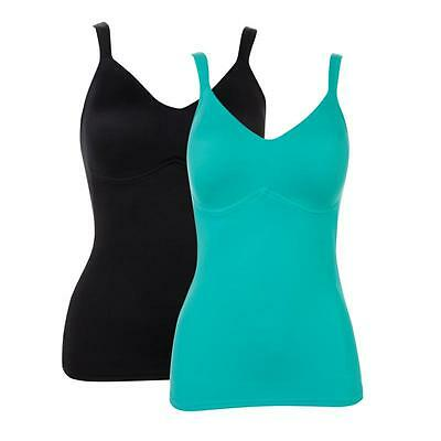 """Rhonda Shear """"Everyday"""" Molded Cup Camisole 2 pack size 3X"""