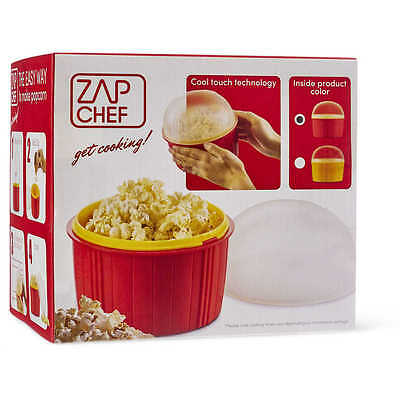 JML 90 Second Microwave Popcorn Maker w/ Double Insulated Wall + Cool Touch