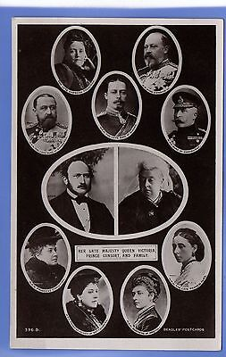Old Vintage Beagles Rp Postcard Queen Victoria Prince Consort & Family Royalty
