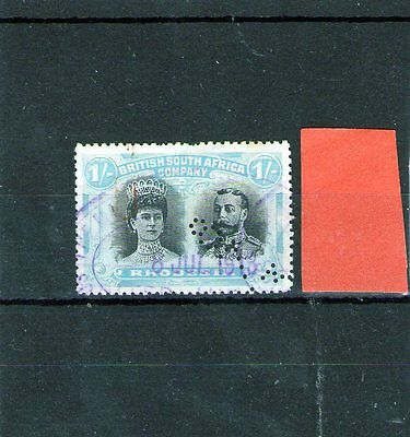 Rhodesia King George V Fiscal Used Stamp Double Head 1 Shilling