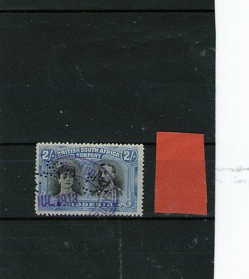 Rhodesia King George V Fiscal Used Stamp Double Head 2 Shillings
