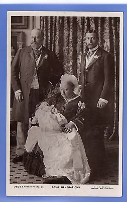 Old Vintage Rp Postcard Four Generations Queen Victoria Prince Edward George