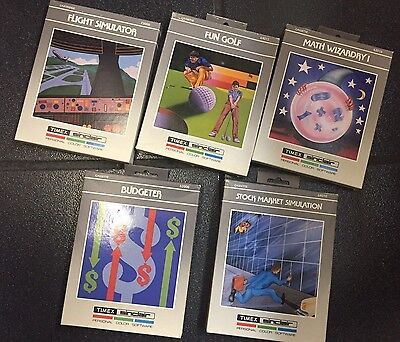 Set Of Brand New & Sealed + Timex 2068 Sinclair Vintage Software 80's