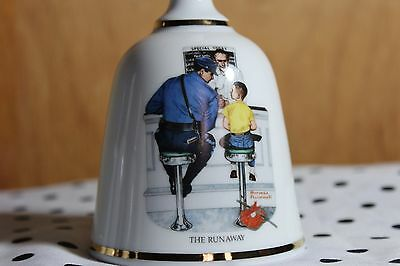"""Norman Rockwell """"The Runaway"""" Bell by Danbury Mint"""