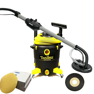 Porter Cable 7800 Drywall Sander w/Dual Filter 16 Gal. Dustless Vac & 30 Discs