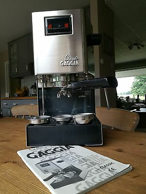 Gaggia Classic Espresso Coffee Machine - Fitted With Rancilio Silvia Wand