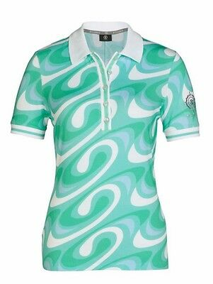 Bogner Polo June in mint multicolor für Damen