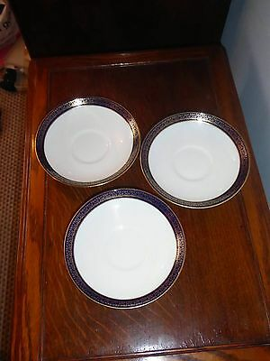 Coalport Cobalt Blue Tea or Coffee Cup Three Saucers Only