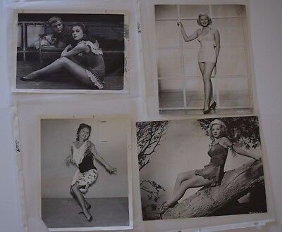 Collection (12) of original 50's & 60's publicity photographs actresses pin-ups