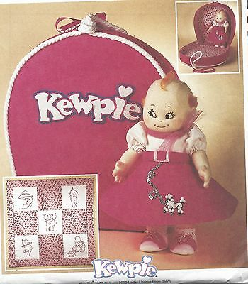 "14""kewpie/cupie Doll Clothes&carry/travel Case/tote&redwork Embroidery Pattern"