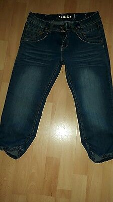 Girls New Look skinny cropped jeans age 14
