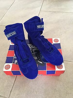 Sparco Blue Racing Ankle Boots Size Euro 40/UK 6.5
