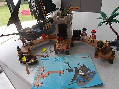 Playmobil 5775 *100% complete* pirate bundle island animal prison jail ship