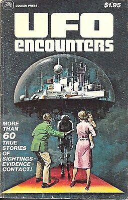 Vintage (1978)  Golden Press Ufo Encounters Paperback Book
