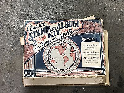 COPYRIGHT 1948 STAMP ALBUM WORLD US & FOREIGN POSTAGE  In Box