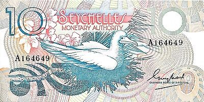 1979 Monetary Authority - Seychelles 10 Rupees UNC Condition Pick: 23 Prefix: A