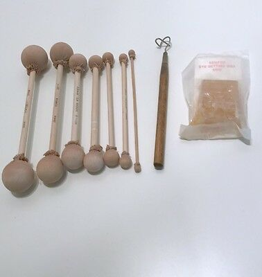 9 Piece Lot Kemper La Sioux Various Size Doll Eye Sizers Tools Wax 6mm - 32mm