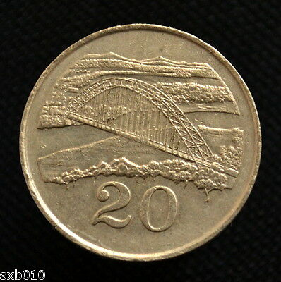 Zimbabwe 20 Cents. km4. Africa Coin. EF. Random ages.