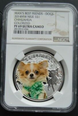 Niue 2014 1$ Mans Best Friends Dogs - Chihuahua NGC PF69