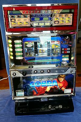Vintage Space Adventure Cobra Pachislo Slot Machine Takes Quarters Works Great!
