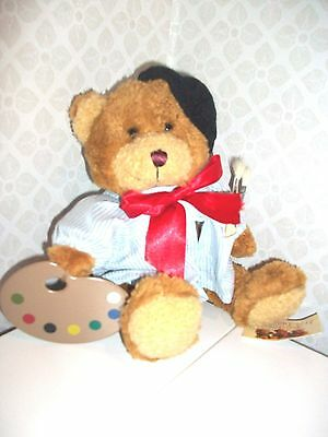 ALPHONSE the ARTIST by The Teddy Bear Collection - soft student/ art toy NEW