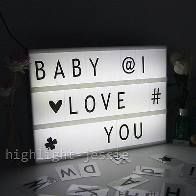 led lichtkasten leuchtkasten 255 buchstaben emoji a4. Black Bedroom Furniture Sets. Home Design Ideas