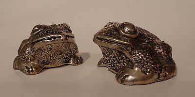 """Small Bronze Frog 2"""",brown/silver Finish"""