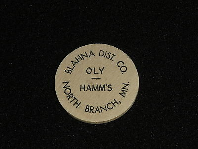 Oly - Hamm's Beer Wooden Nickel - Blahna Distributing Co., North Branch, MN