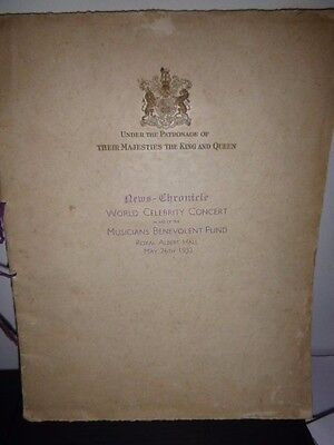 Rare 1932 World Celebrity Large Concert Programme At The Royal Albert Hall