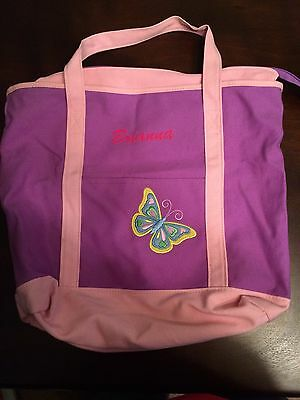 "NWOT Purple & Pink Personalized ""Brianna"" Tote Duffel Bag"