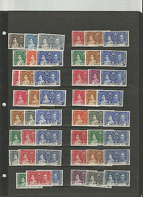 1937 Coronation Set, 189 Stamps. Mint, Hinged And Never Hinged.