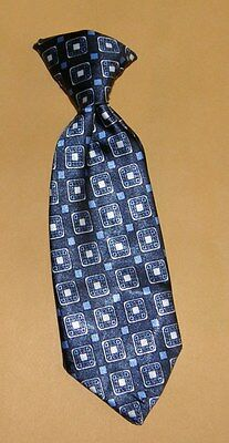 BABY BOY'S BLUE & BLACK SQUARE PATTERN CLIP ON TIE ~ spring wedding