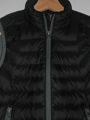 Free Country Kids Boys Down Puffer Vest Winter Black Gray S (7/8)