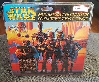 starwars mouse pad calculator vintage 1997 sealed new
