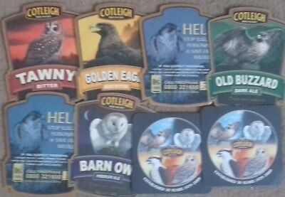 8 Different Cotleigh Brewery Wiveliscombe Beermats Coasters Bierdeckel Sous Bock