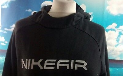 """NIKE AIR Hoodie. Black. 19"""" pit-to-pit, 25"""" length, age 12, age 13"""