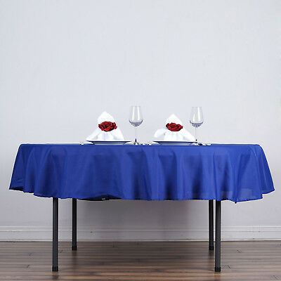 """10 ROYAL BLUE 90"""" ROUND POLYESTER TABLECLOTHS Wholesale Tabletop Decorations"""