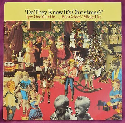 """Band Aid – Do They Know It's Christmas? / One Year On 7"""" – FEED 1 – Ex"""