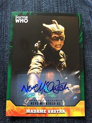 Topps Dr Who Signature Series Neve McIntosh 49/50 As Madame Vastra Auto Card